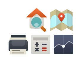 #11 para Design a set of Icons for a Real Estate company por NicolasFragnito