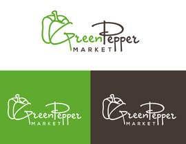 #102 for Design Green Pepper Market Logo by BBdesignstudio