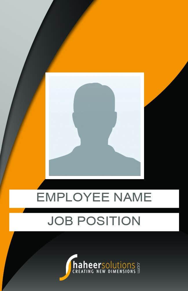 Kilpailutyö #28 kilpailussa Employee Identity card design.