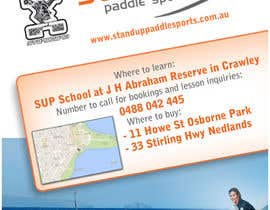 nº 35 pour Design a Flyer for a Stand Up Paddle School par Tinchy087