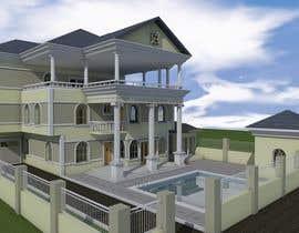 Nro 5 kilpailuun Design Concept for a two-storey House in Saudi Arabia (Floor plan, Elevations, 3D rendering) käyttäjältä Fireprince14