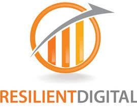 Nro 18 kilpailuun Refreshed logo design for resilient digital käyttäjältä lauraburdea