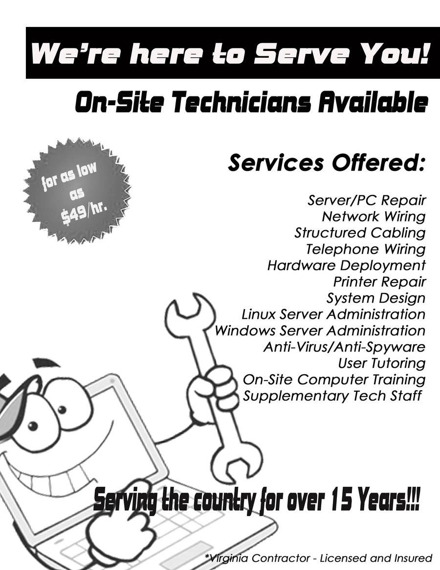 Contest Entry #                                        10                                      for                                         Flyer Design for Tech Services Division