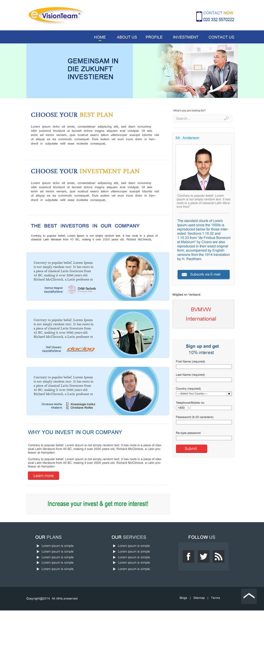 Contest Entry #28 for Creating of a landingpage