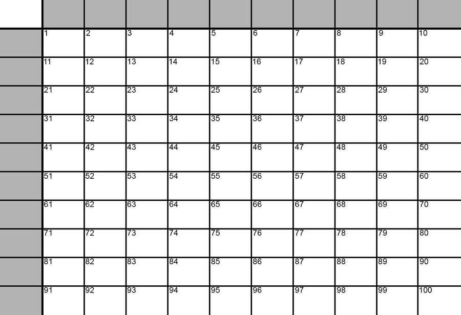 Simple Superbowl 100 SquaresGrid As SVG In Adobe