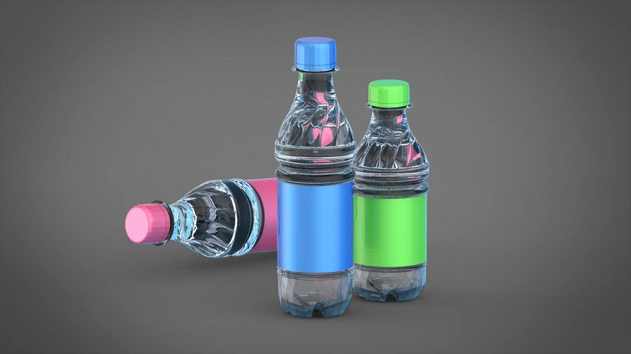 Entry #4 by appleheart for Model a plastic beverage bottle in Cinema