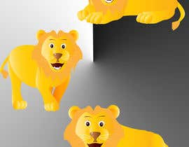 #1 para flat mascot (Lion) for my company por danebrown11