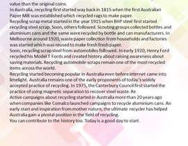 #4 for Writing 'news' articles about Metal Recycling in Australia by amritakn
