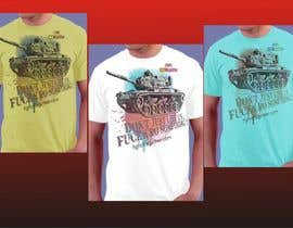 #17 untuk Design a cool T-Shirt with Tank Men and a slogan underneath oleh artist4