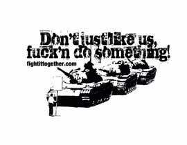 #8 untuk Design a cool T-Shirt with Tank Men and a slogan underneath oleh NicolasFragnito