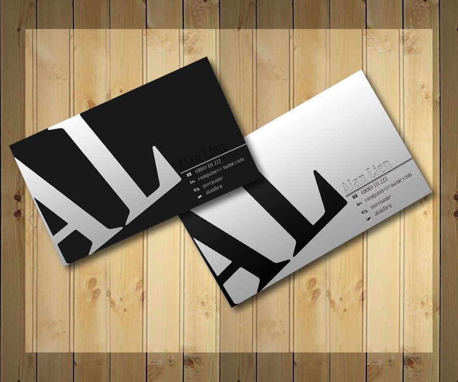 Bài tham dự cuộc thi #16 cho Business Card Design for Alan Lien