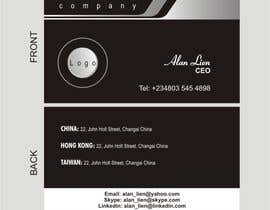 #7 para Business Card Design for Alan Lien por Djbaba