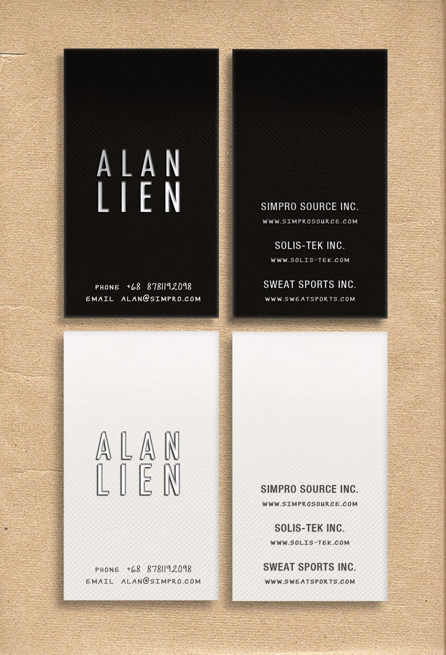 Contest Entry #24 for Business Card Design for Alan Lien