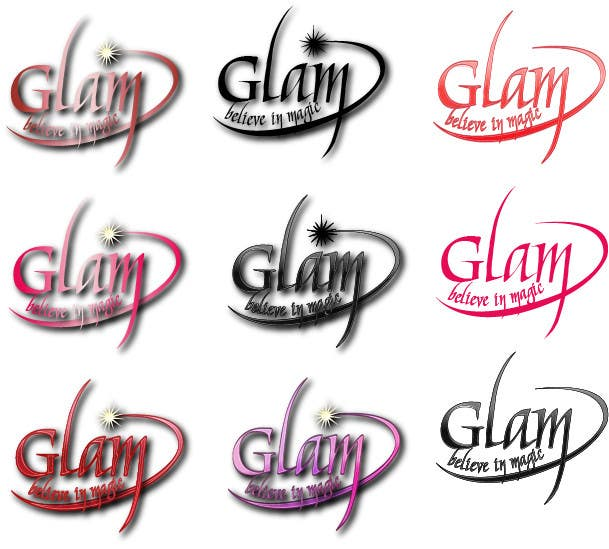 Конкурсная заявка №44 для Logo Design for Glam Cosmetics Tagline Believe in Magic