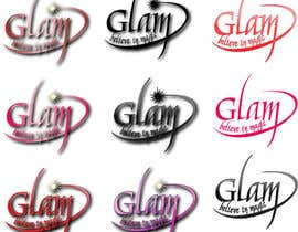 #44 untuk Logo Design for Glam Cosmetics Tagline Believe in Magic oleh Paovikez