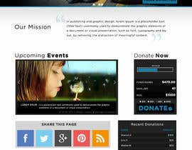 nº 5 pour Design a Website template for fundraising page par vishakhvs