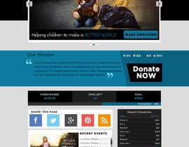 nº 22 pour Design a Website template for fundraising page par vishakhvs
