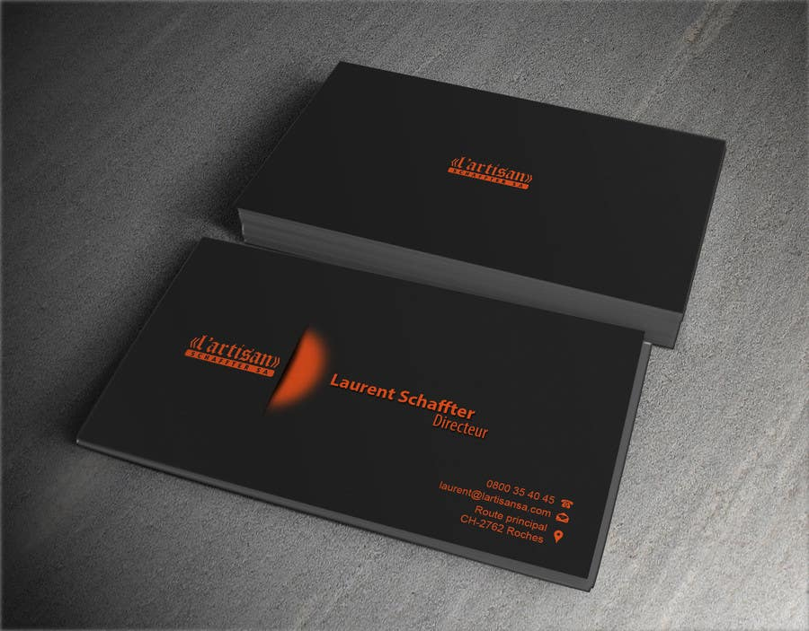 Contest entry 19 for design some business cards for my company color orange