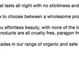 alexandradaley tarafından Write a Product Description for my Organic Lip Gloss için no 12