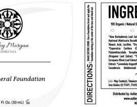Nro 25 kilpailuun Create a Cosmetic Label for my Liquid Mineral Foundation käyttäjältä idrismkhalil