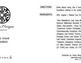 Nro 3 kilpailuun Create a Cosmetic Label for my Liquid Mineral Foundation käyttäjältä sateshcharan