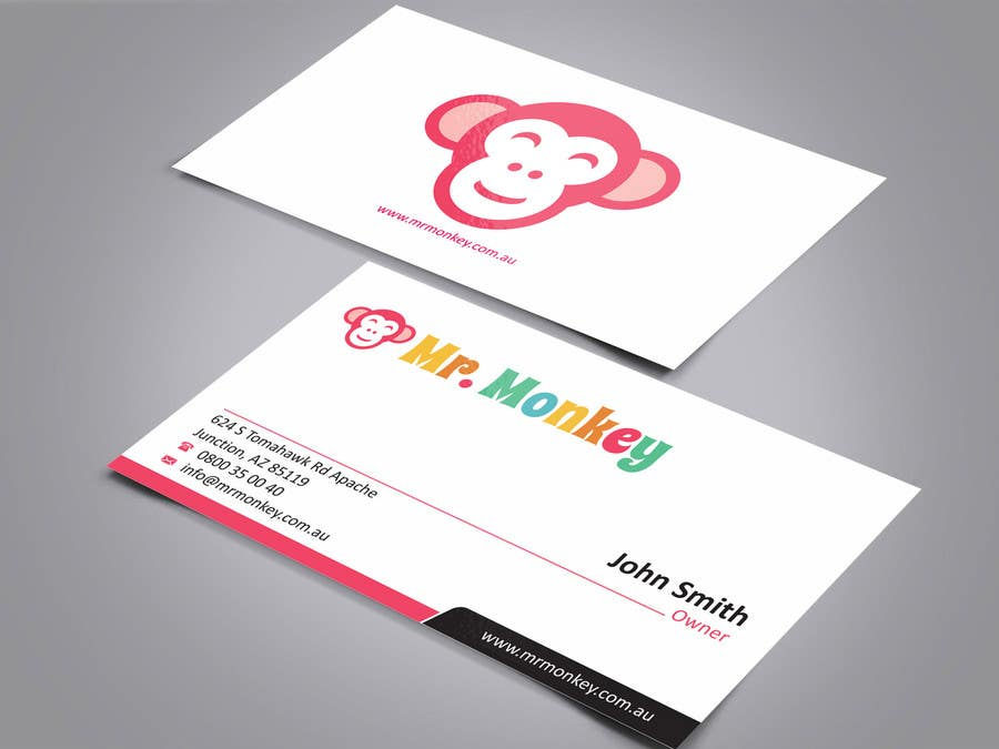 Entry 22 by ezesol for design business cards for mr monkey contest entry 22 for design business cards for mr monkey reheart Choice Image