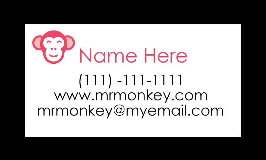 Inscrição nº 25 do Concurso para Design Business Cards for Mr. Monkey