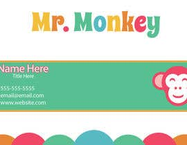 nº 1 pour Design Business Cards for Mr. Monkey par TAGFX