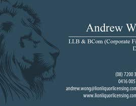 nº 11 pour Design some Business Cards for Lion Liquor Licensing Consultants par dalizon