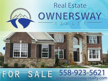 #16 for Ownersway real estate yard sign by AleksandarPers