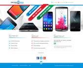 Graphic Design Kilpailutyö #42 kilpailuun Design a Website Mockup for a Mobile Device Company