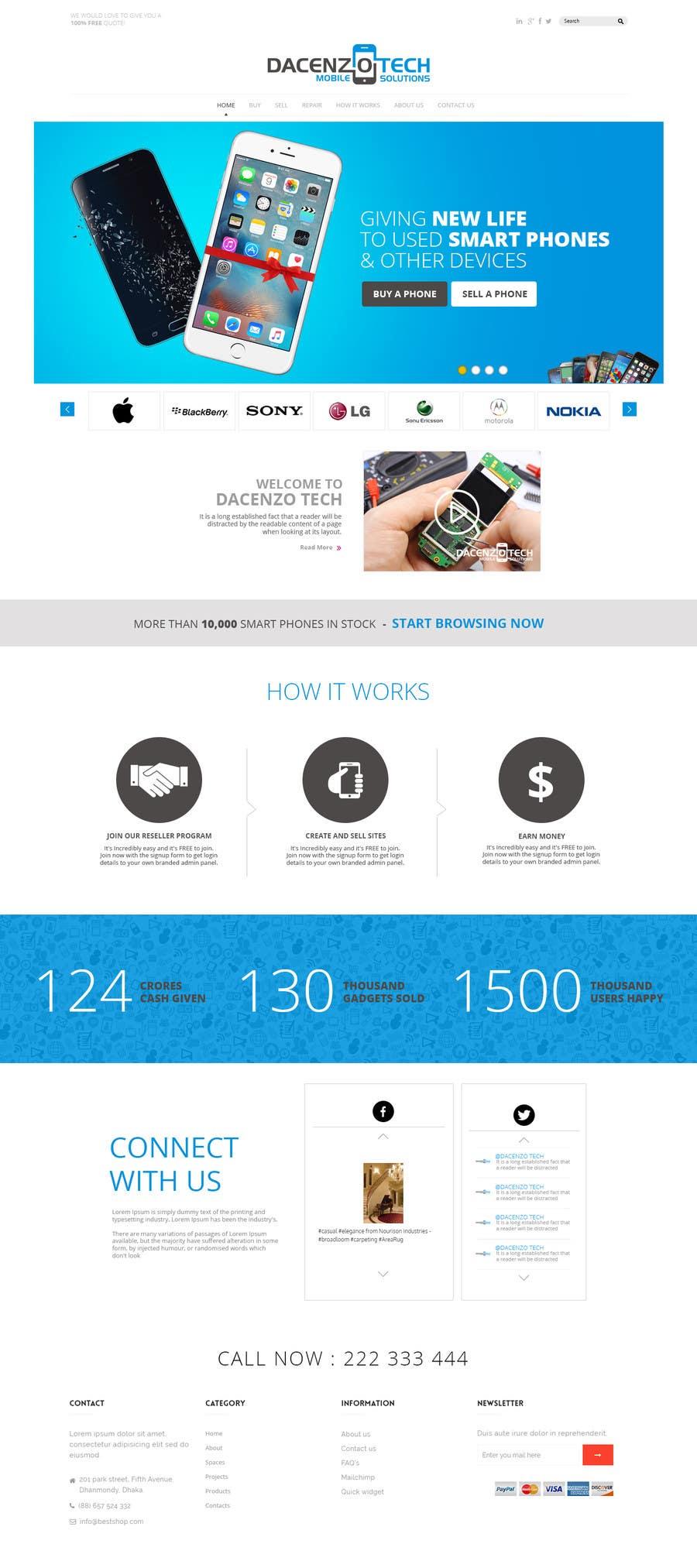Kilpailutyö #24 kilpailussa Design a Website Mockup for a Mobile Device Company