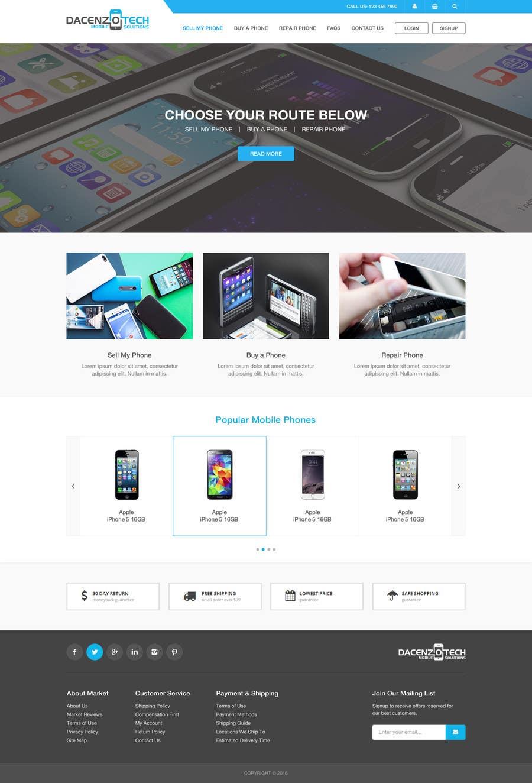 Kilpailutyö #32 kilpailussa Design a Website Mockup for a Mobile Device Company