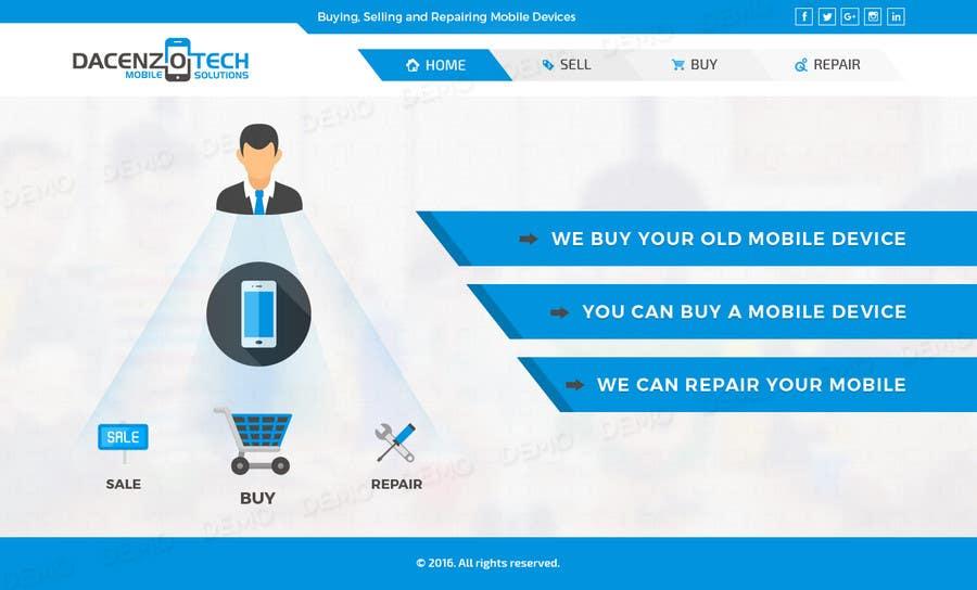 Kilpailutyö #62 kilpailussa Design a Website Mockup for a Mobile Device Company