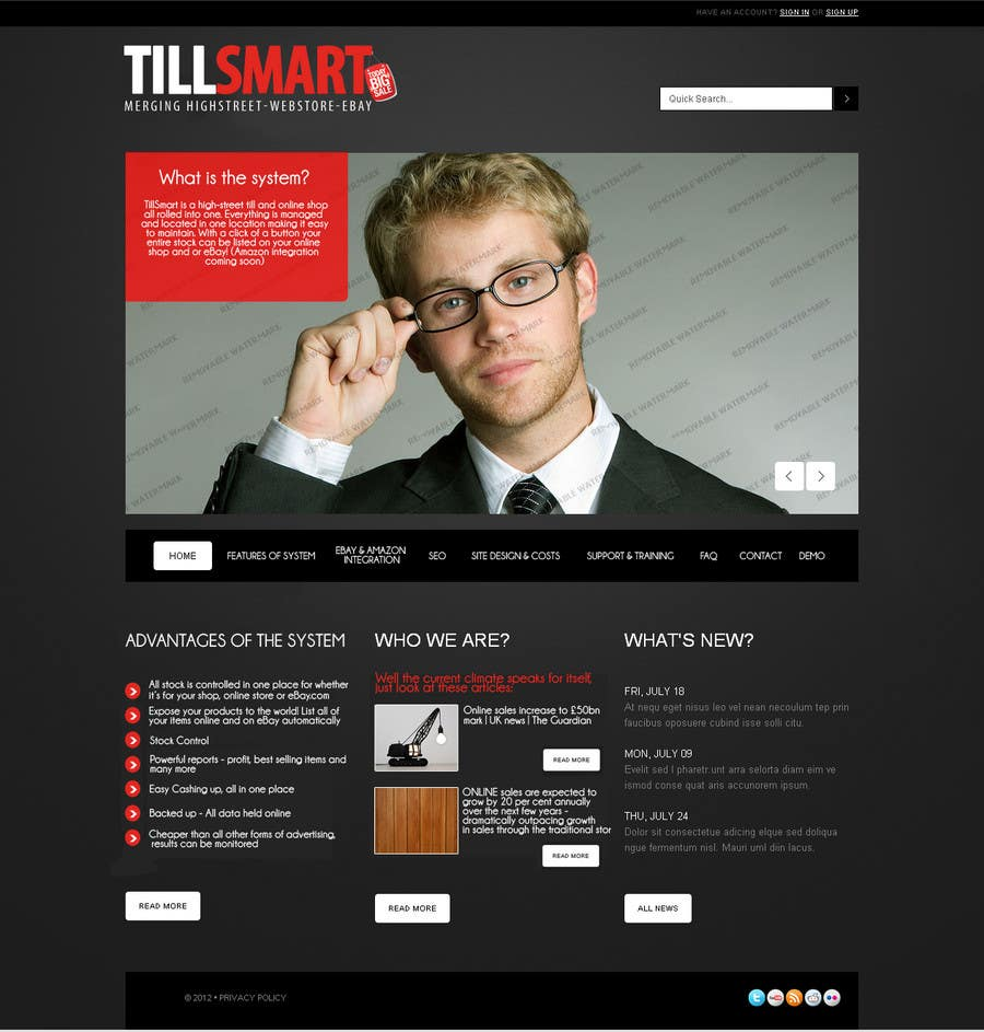 Contest Entry #                                        6                                      for                                         Website Design for TillSmart