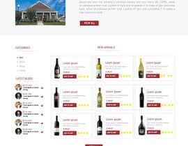 creative223 tarafından Design a Website Mockup For A Liquor Store için no 26