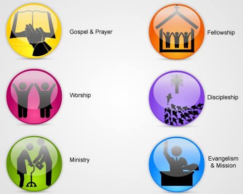 Inscrição nº                                         47                                      do Concurso para                                         Eye-catching graphic logo + 5 clear icons for our church group
