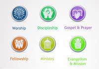 Graphic Design Inscrição do Concurso Nº52 para Eye-catching graphic logo + 5 clear icons for our church group