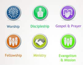 #37 для Eye-catching graphic logo + 5 clear icons for our church group от Anamh