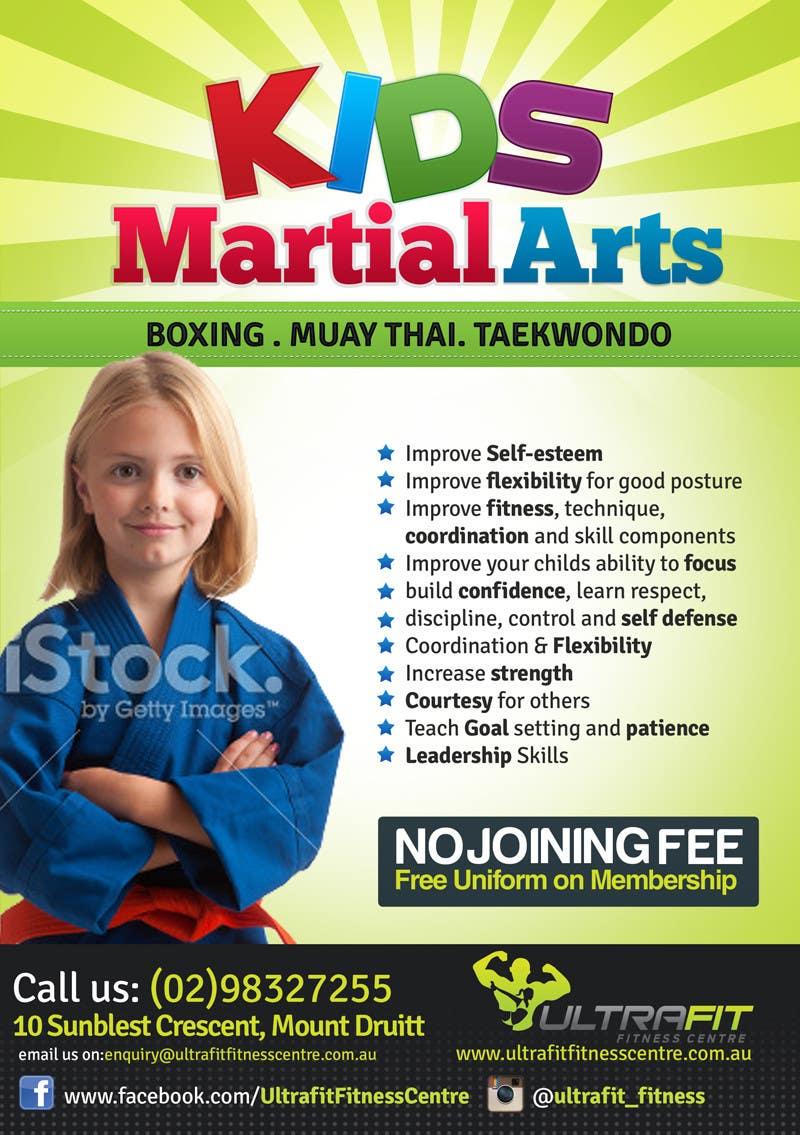 Kilpailutyö #22 kilpailussa Design a Flyer for Kids Martial Arts Classes