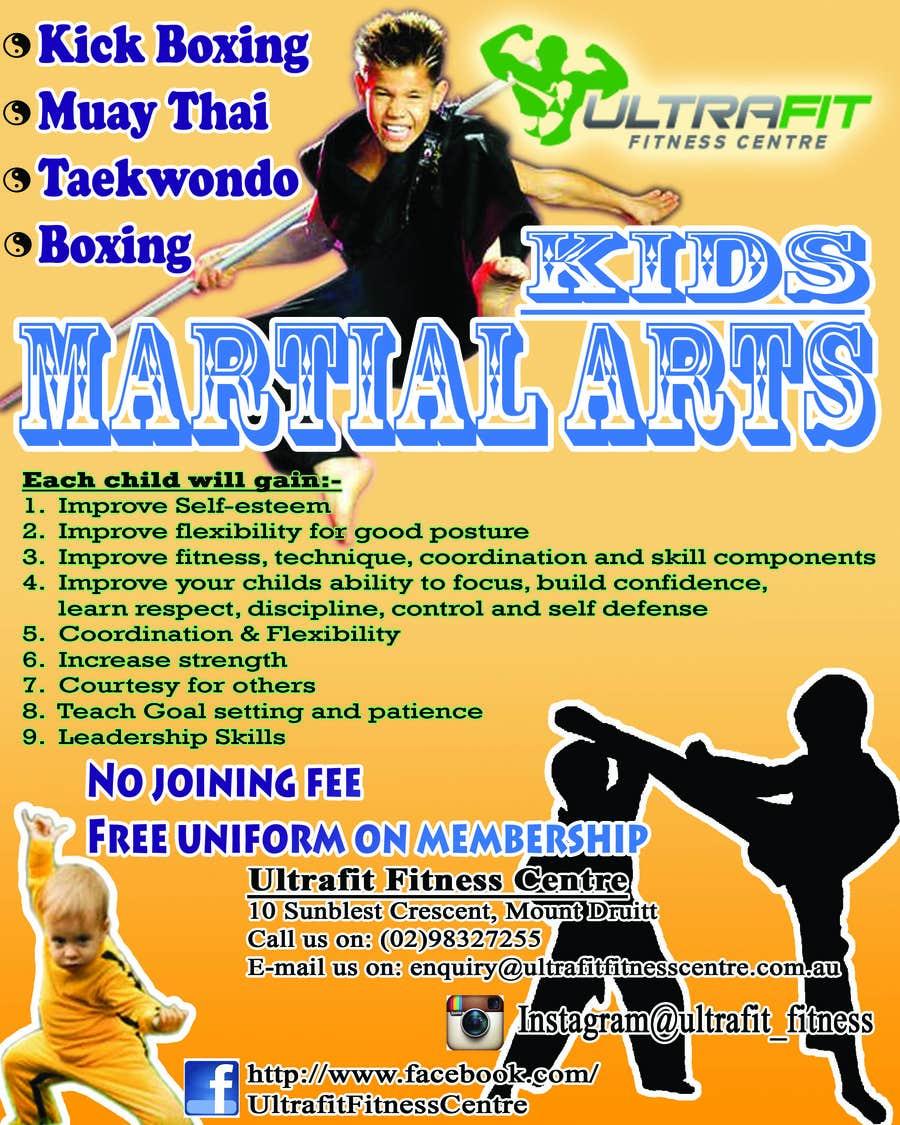 Kilpailutyö #5 kilpailussa Design a Flyer for Kids Martial Arts Classes