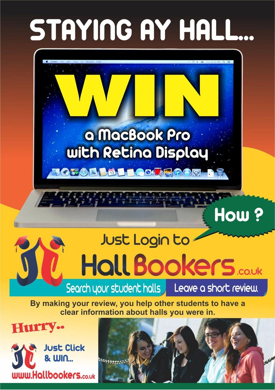 #72 for Design a Flyer/Poster for Hallbookers by surabi123