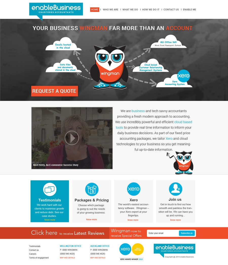 #2 for Design a Website home page and our people page Mockup by suryabeniwal