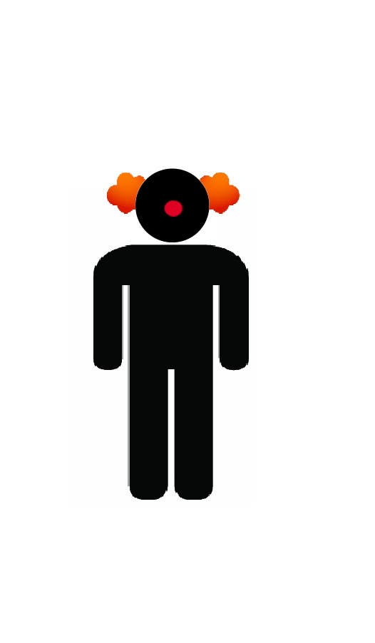 #3 for Minimalistic clown silhouette by LivioDR