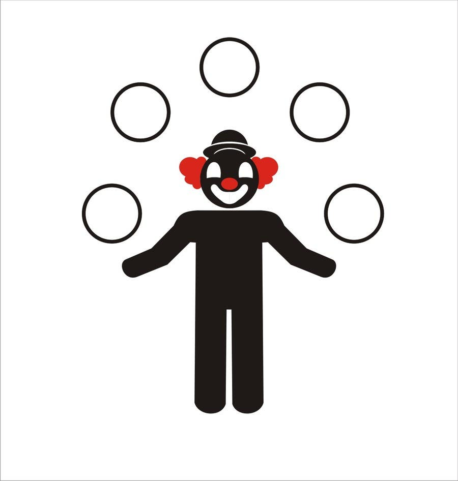 #7 for Minimalistic clown silhouette by mulyohastomo