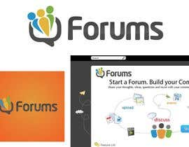 #26 för Logo Design for Forums.com av zulfibd08