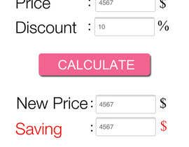 #11 para Design an App Mockup for discount calculator por vishnudew