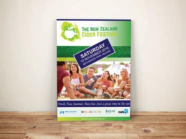 solutionallbd tarafından A3 Poster for The New Zealand Cider Festival için no 26
