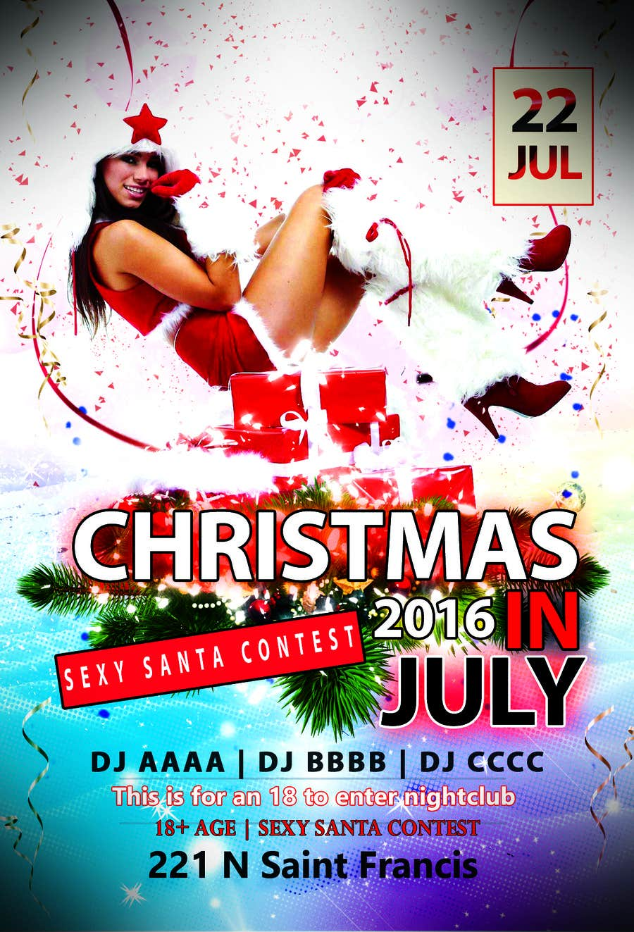 Entry 28 by manidesign for Design a Flyer Christmas in July