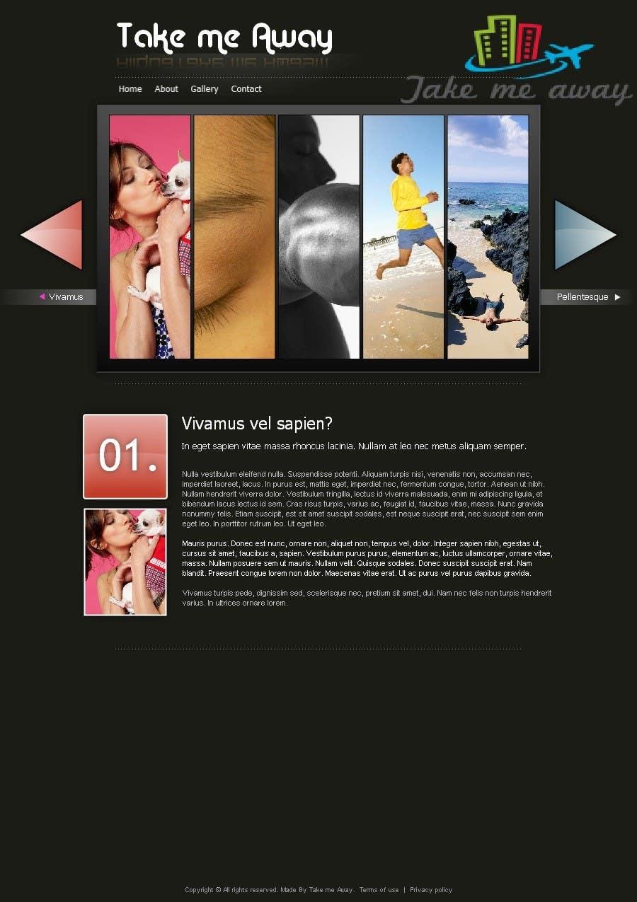 Inscrição nº                                         10                                      do Concurso para                                         Design a Website Mockup for 'Take me Away'